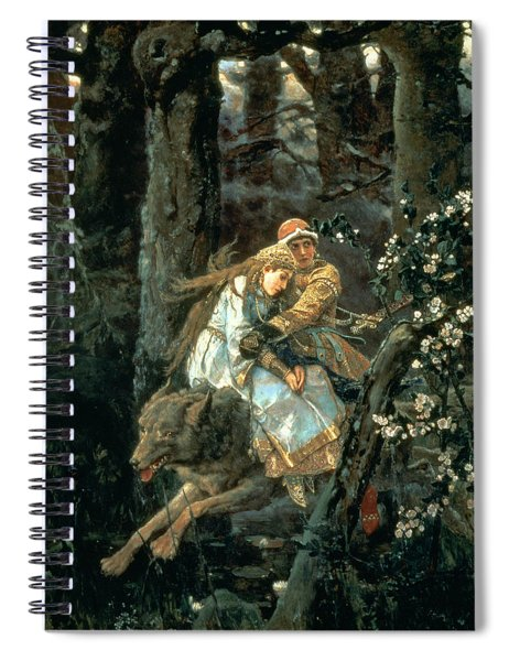 Prince Ivan On The Grey Wolf, 1889 Spiral Notebook