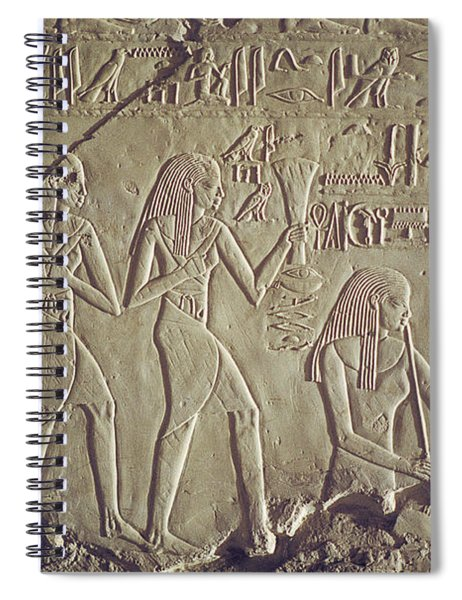 Private Tomb Of Kheruef Kheruf Cheriuf Tt 192 Asasif-stock Image-fine Art Print-valley Of The Kings Spiral Notebook