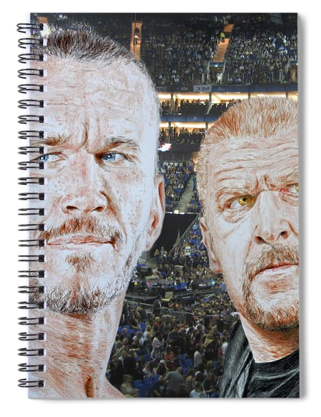 Pro Wrestling Superstars Randy Orton And Triple H Spiral Notebook