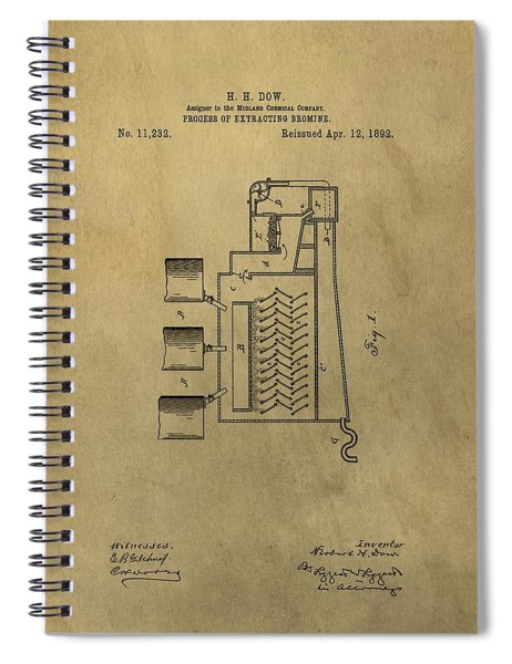 Process Of Extracting Bromine Patent Spiral Notebook