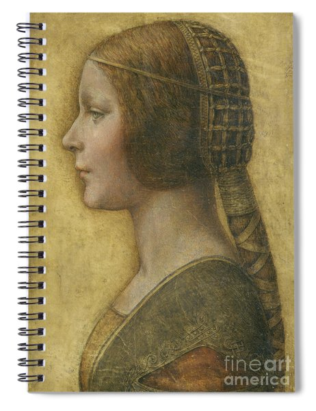 Profile Of A Young Fiancee Spiral Notebook