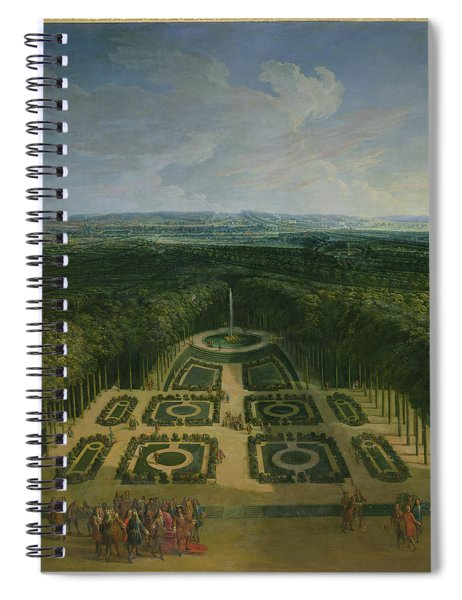 Promenade Of Louis Xiv 1638-1715 In The Gardens Of The Grand Trianon, 1713 Oil On Canvas Spiral Notebook