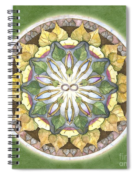 Prosperity Mandala Spiral Notebook