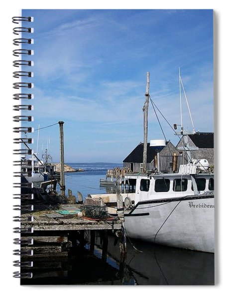 Spiral Notebook featuring the photograph Providence by Mel Steinhauer