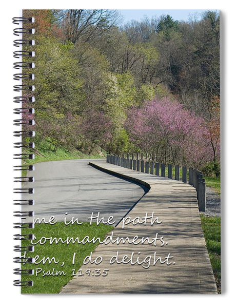 Psalm 119 Direct Me In The Path Spiral Notebook