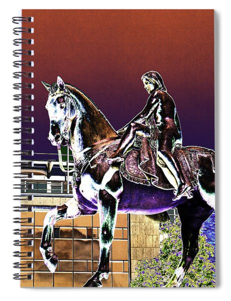 Psychedelic Statue Of Lady Godiva Coventry England Spiral Notebook