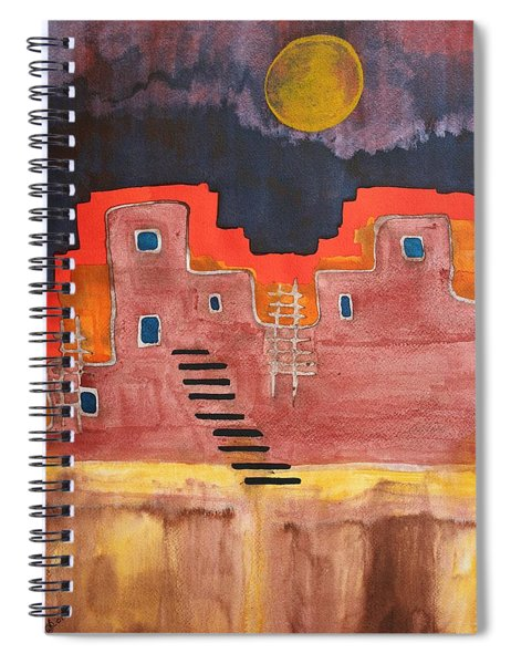 Pueblito Original Painting Spiral Notebook