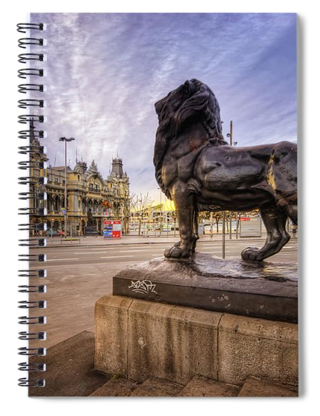 Puerto De Barcelona Sunrise Spiral Notebook