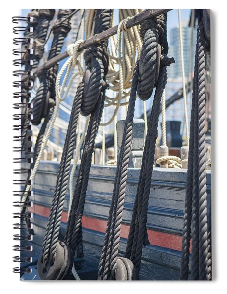 Pulley And Stay Spiral Notebook