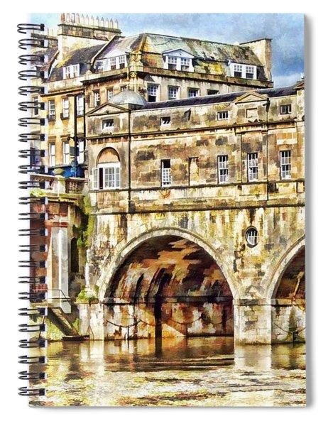 Pulteney Bridge Bath Spiral Notebook by Paul Gulliver