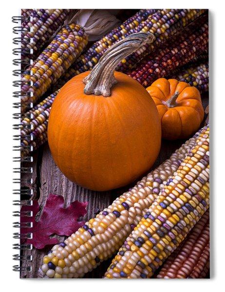 Pumpkins And Corn Spiral Notebook