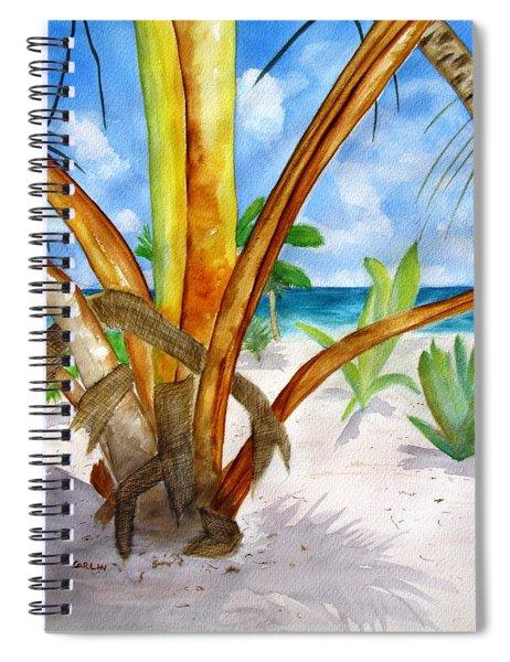 Punta Cana Beach Palm Spiral Notebook