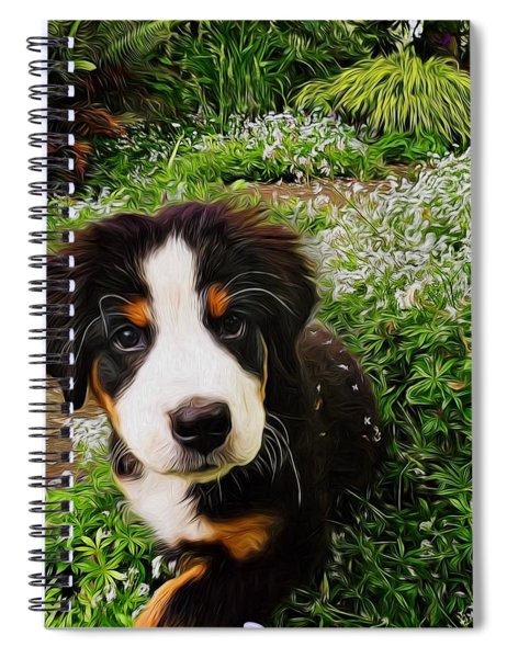 Puppy Art - Little Lily Spiral Notebook