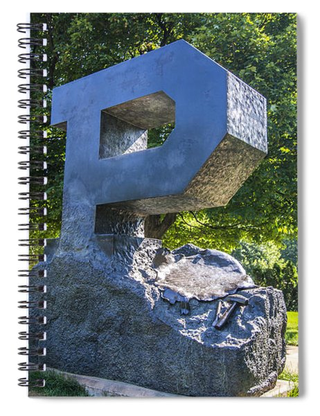 Purdue University Block P Project Statue Spiral Notebook
