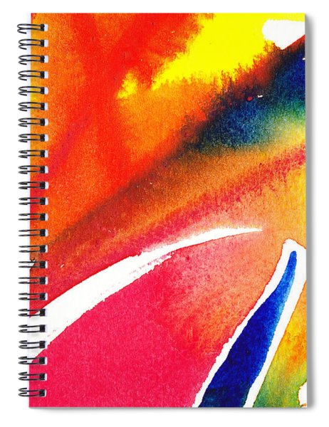 Pure Color Inspiration Abstract Painting Enchanted Crossing Spiral Notebook