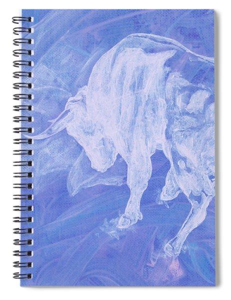 Purple Bull Negative Spiral Notebook