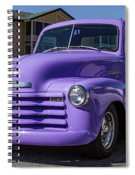 Purple Chevy Truck Spiral Notebook by Robert L Jackson
