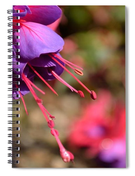 Spiral Notebook featuring the photograph Purple Fuchsia by Scott Lyons