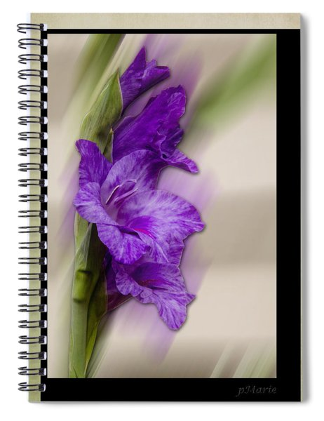 Spiral Notebook featuring the photograph Purple Gladiolus Bloom by Patti Deters