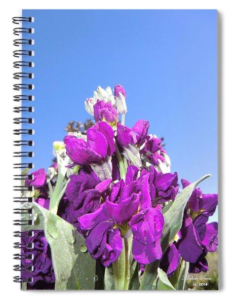 Purple Glow 2 Spiral Notebook