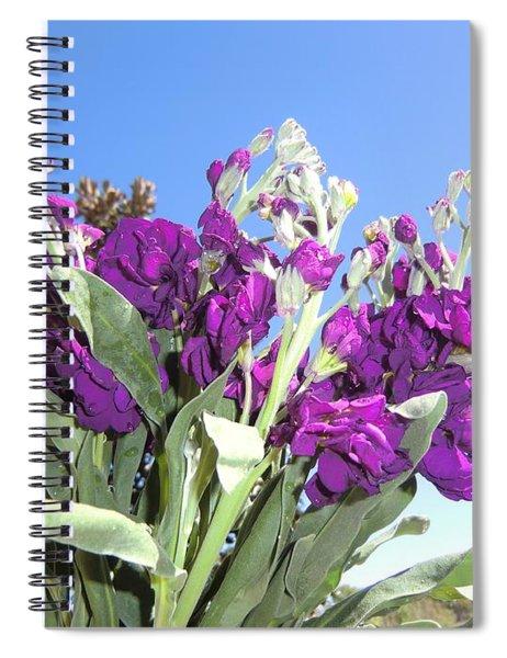 Purple Glow Spiral Notebook