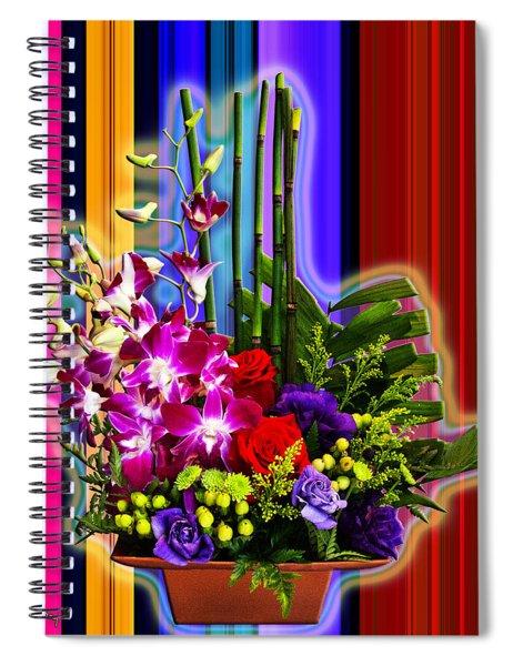 Purple Lady Flowers Spiral Notebook