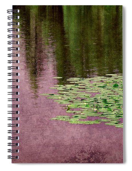 Purple Pond Reflections Spiral Notebook