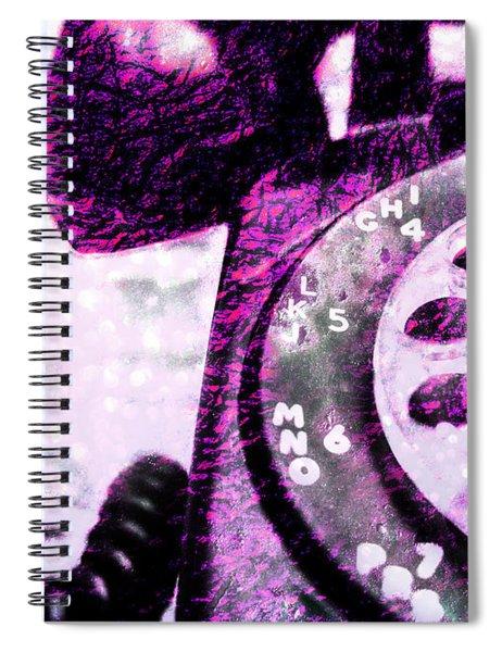 Purple Rotary Phone Spiral Notebook