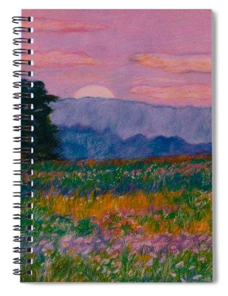 Purple Sunset On The Blue Ridge Spiral Notebook
