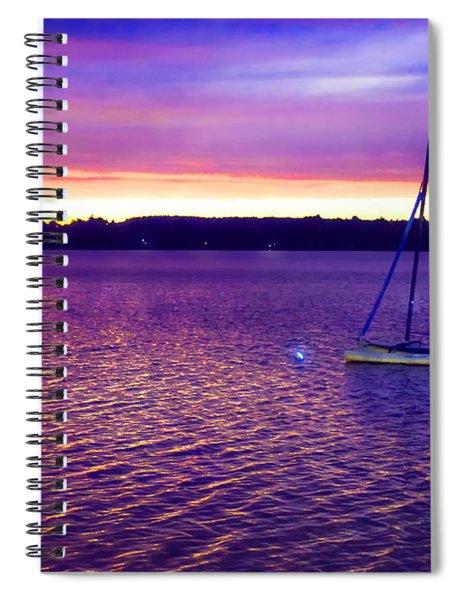 Purple Waters  Spiral Notebook