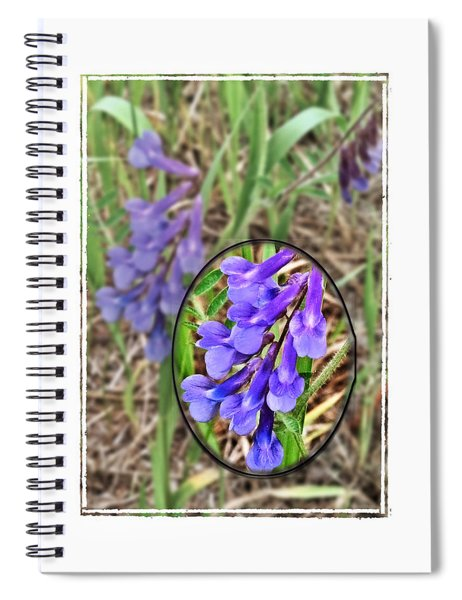 Purple Wildflowers Spiral Notebook