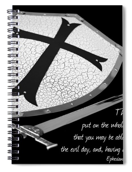 Put On The Armor Ephesians 6 Spiral Notebook