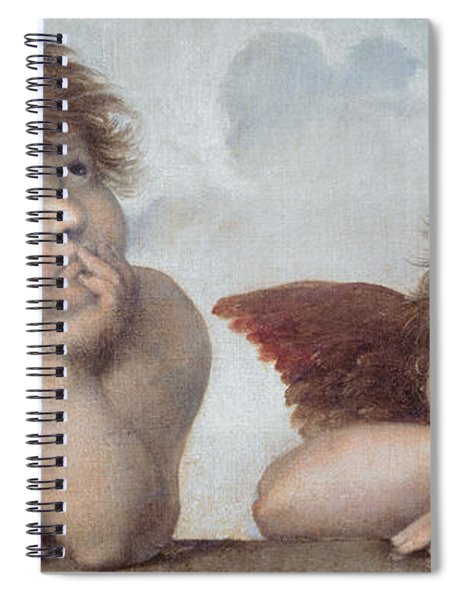 Putti Detail From The Sistine Madonna Spiral Notebook