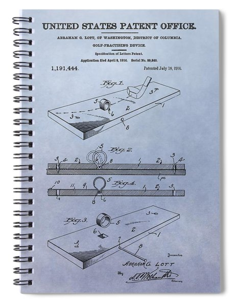 Putting Practice Patent Spiral Notebook