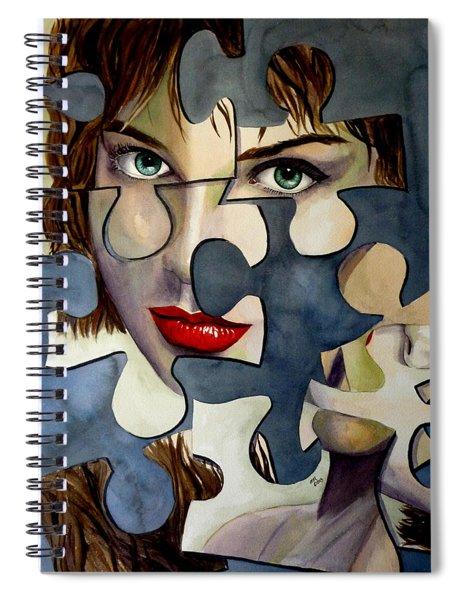 Puzzled Spiral Notebook