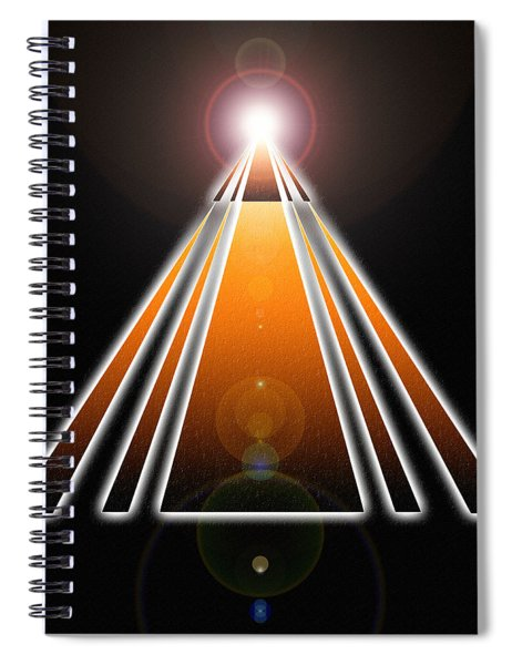 Pyramid Of Light Spiral Notebook