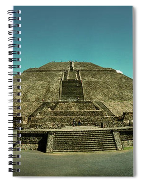 Pyramid Of The Sun In The Teotihuacan Spiral Notebook