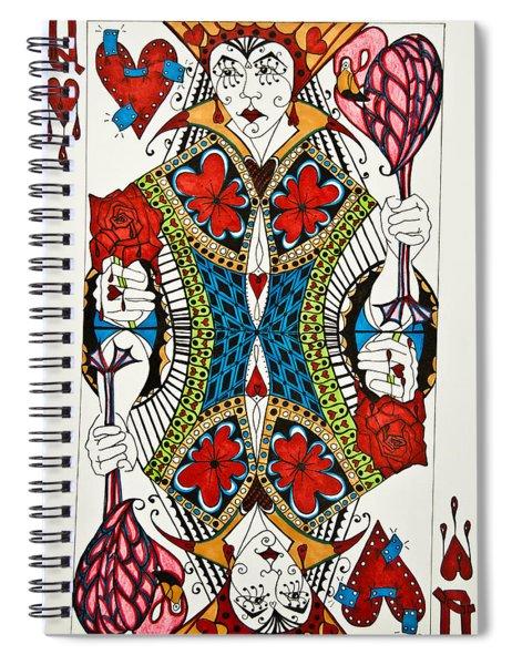 Queen Of Hearts - Wip Spiral Notebook