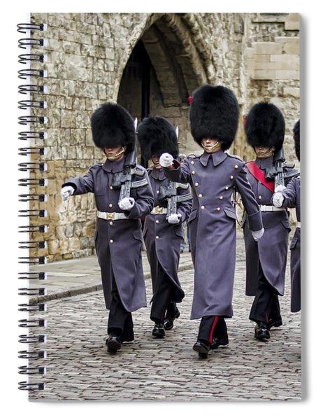 Queens Guard Spiral Notebook