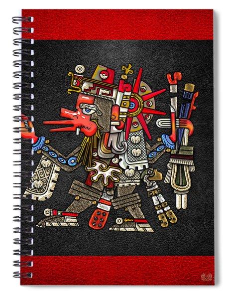 Quetzalcoatl In Human Warrior Form - Codex Borgia Spiral Notebook