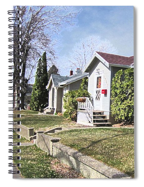 Quiet Street Waiting For Spring Spiral Notebook
