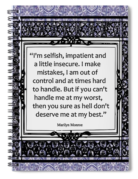 Quote - Marilyn Monroe Spiral Notebook