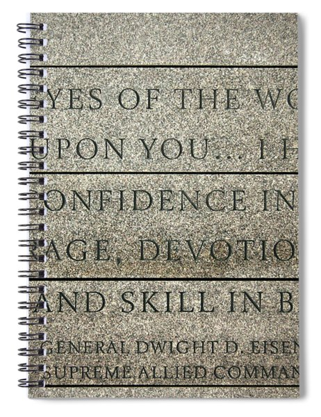 Quote Of Eisenhower In Normandy American Cemetery And Memorial Spiral Notebook