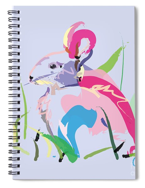 Rabbit - Bunny In Color Spiral Notebook