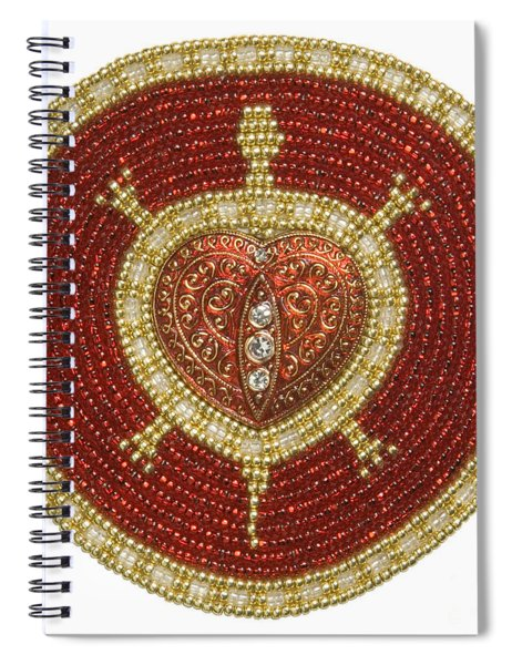 Red Heart Turtle Spiral Notebook