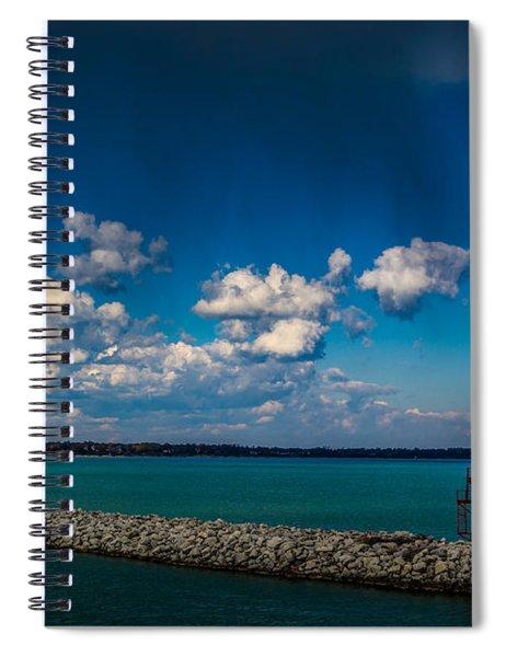 Racine Harbor Lighthouse Spiral Notebook