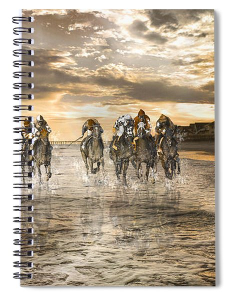 Racing Down The Stretch Spiral Notebook