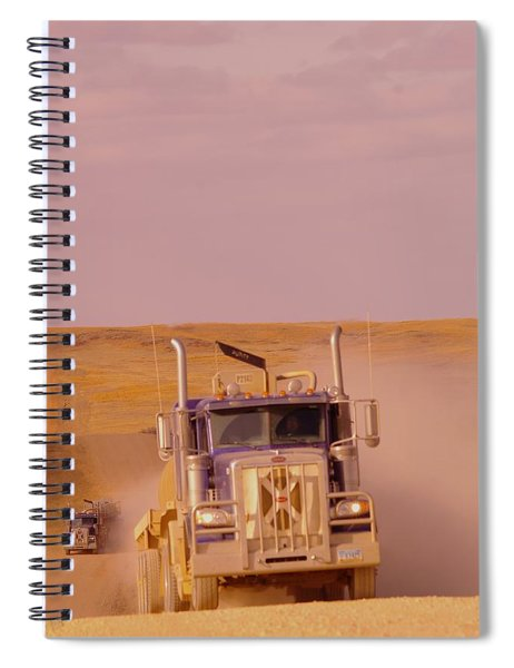 Racing In The Oil Patch Spiral Notebook
