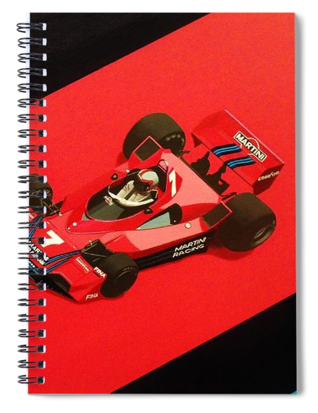 Racing Stripes Spiral Notebook