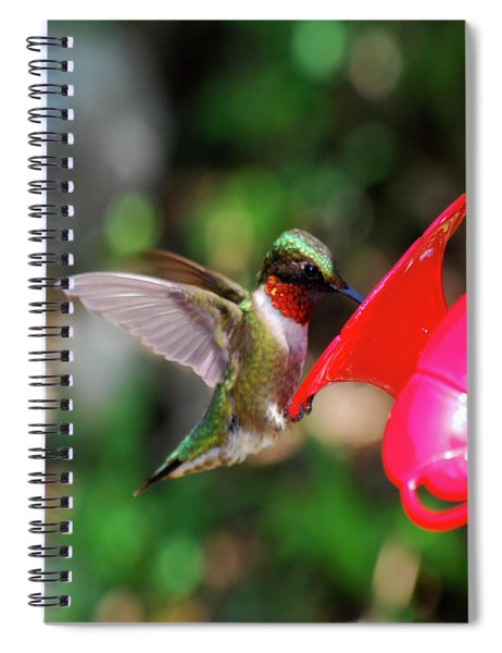 Radiant Ruby Spiral Notebook
